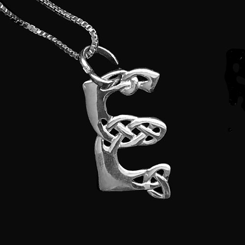 Celtic Design Alphabet Pendant