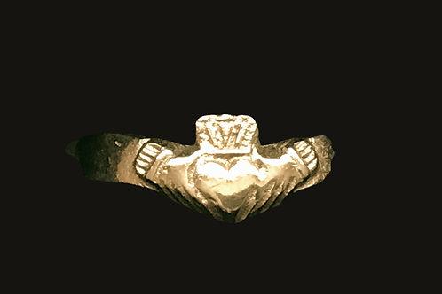 14K Gold Wishbone Claddagh Ring