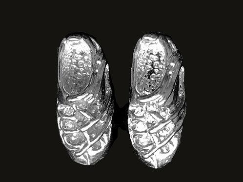 Irish Step Dancing Shoes (Ghillies) Stud Earrings