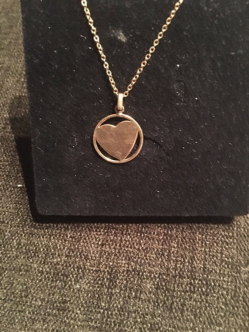 Gold Enamel Heart Necklace from UK