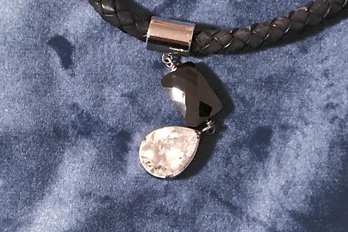 Newbridge Leather and Crystal Necklace