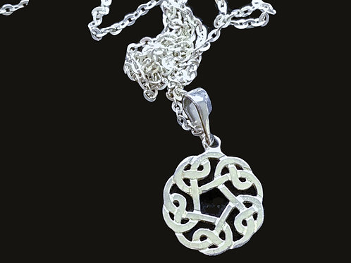 Celtic Knot Circle Pendant by TJH sterling silver