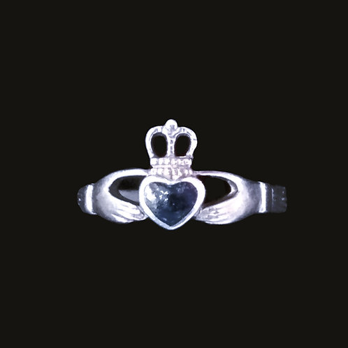 Claddagh Ring with a Black Heart