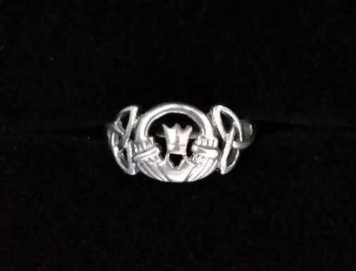 Claddagh Ring with Trinity Knots