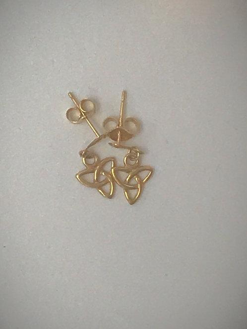 14 KT Gold Trinity Knot Earrings