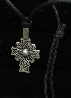 Pewter Cross with Celtic Knots