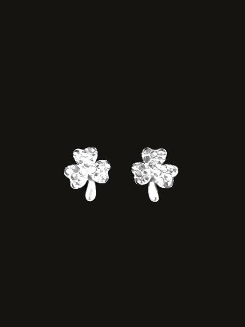Shamrock Earrings with Marcasite