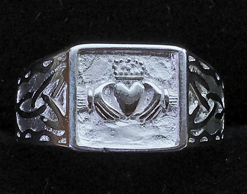 Sterling Silver Men's Claddagh Ring