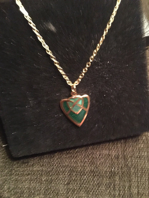 Gold Enamel Celtic Necklace from UK