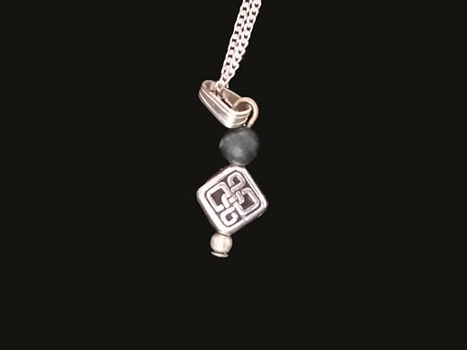 Celtic Knot Pendant with Connemara Marble