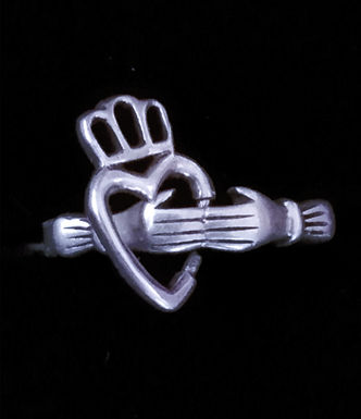 Claddagh Ring with a Floating Heart