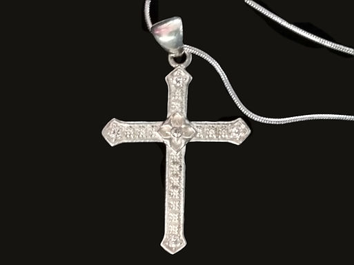 Cross with a Rose Center