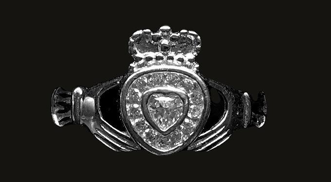 Claddagh Ring with Swarovski Crystal