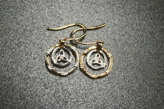 Gold Trinity Knot Earrings