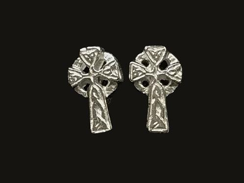 Small Celtic Cross Stud Earrings