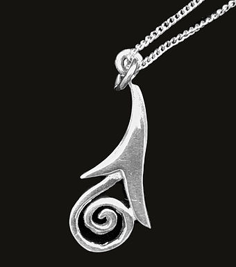 Silver Celtic Spiral Pendant Necklace by ShanOre