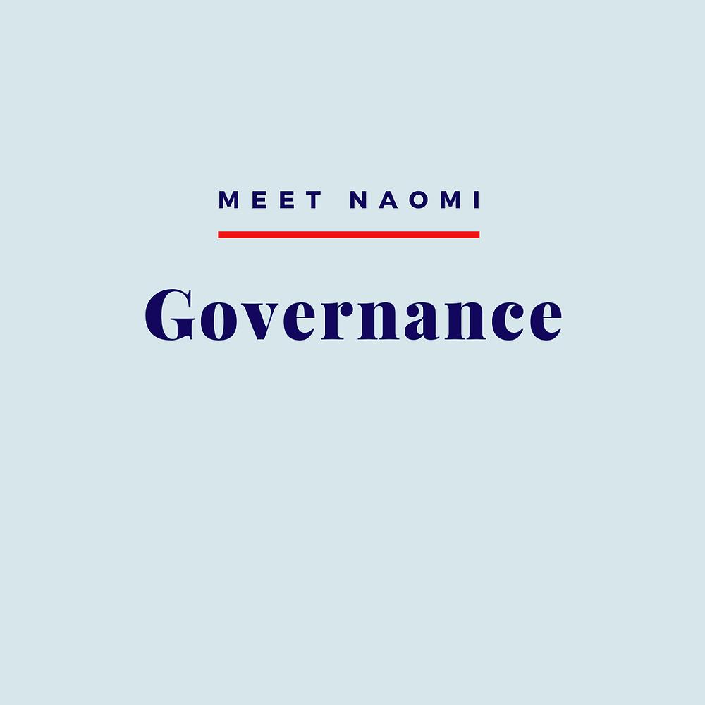 Naomi's governance practice.