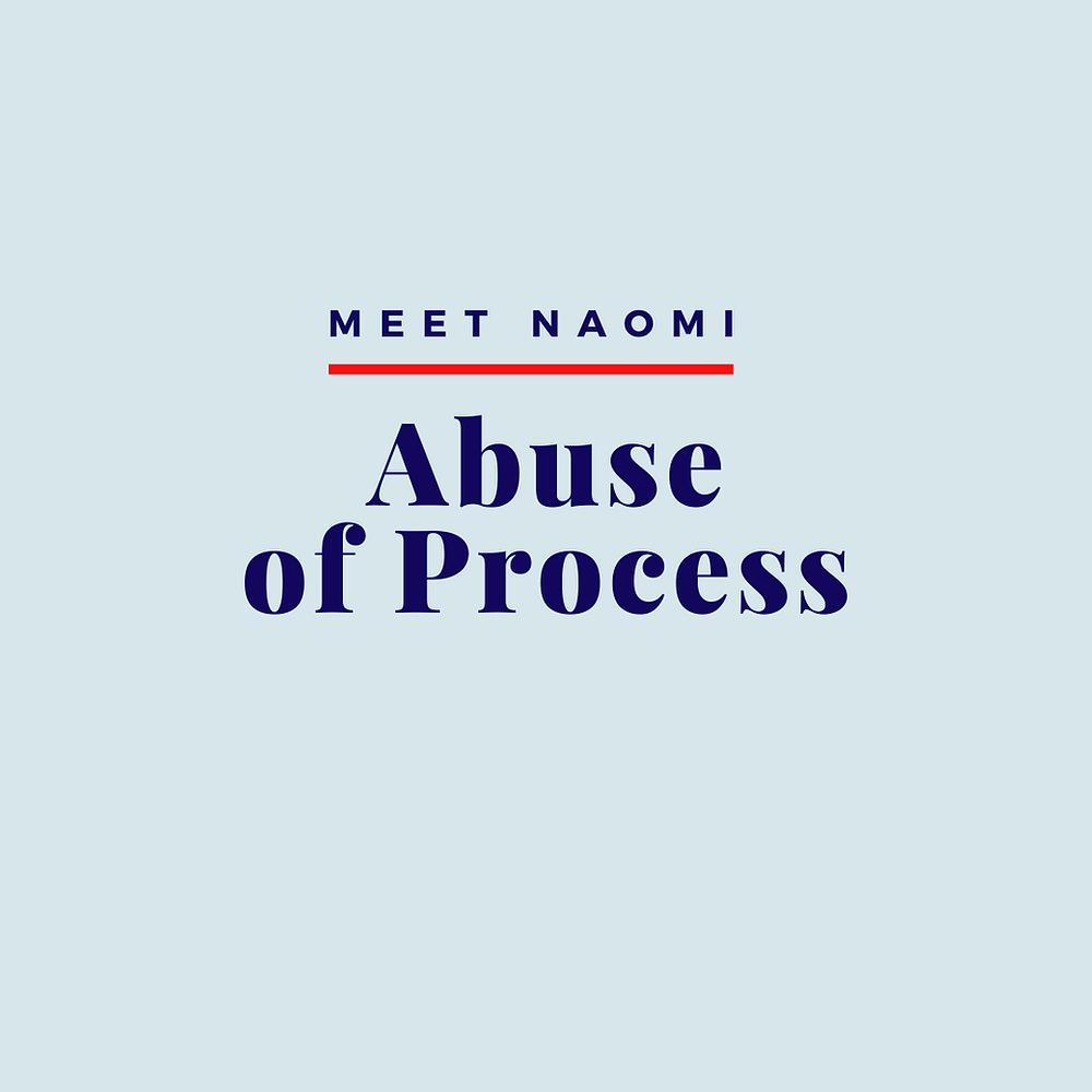 Call for proposals: Abuse of process