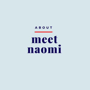 Image reads About Meet Naomi