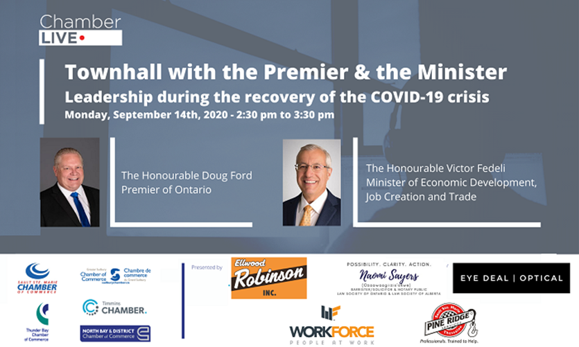 Naomi is co-sponsoring an event with Premier Ford and Minister Fedeli.