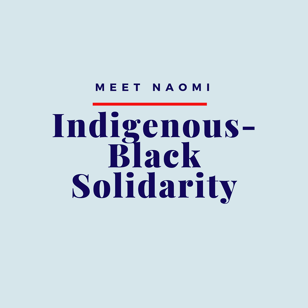 Naomi writes about Indigenous-Black Solidarity for National Indigenous Peoples Day 2020.