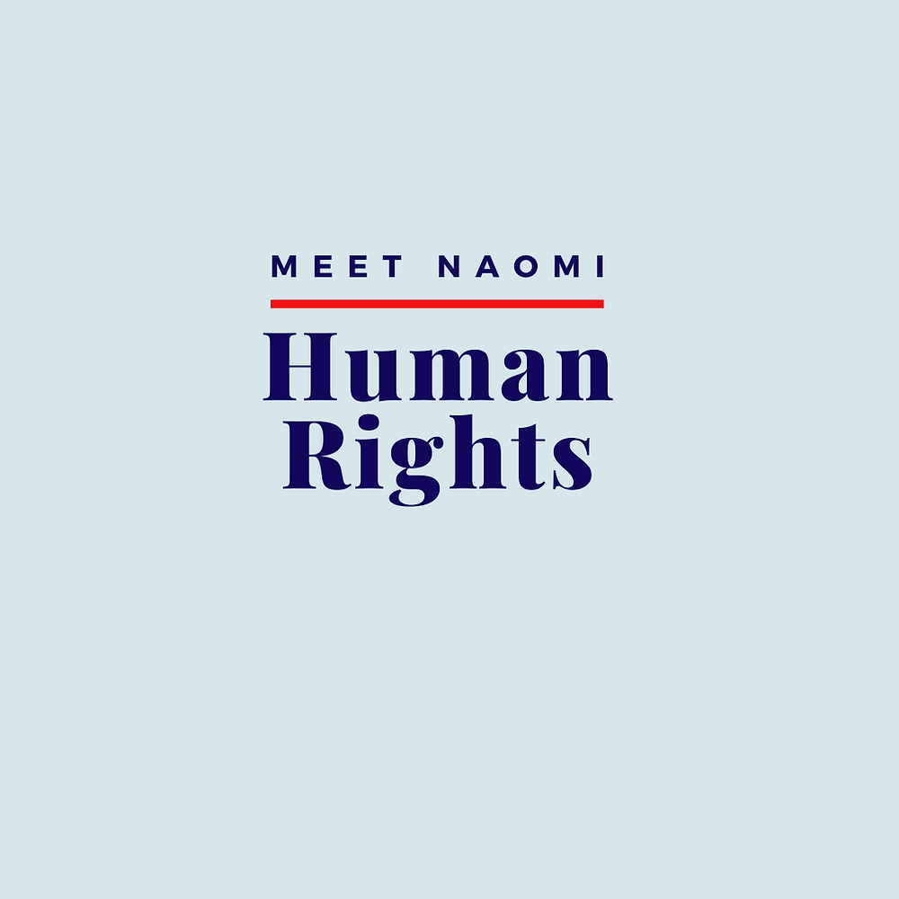 Naomi comments on a human rights issue.