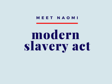 The Modern Slavery Act: The Proposed Canadian Version