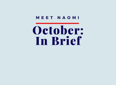 October 2019: In Brief