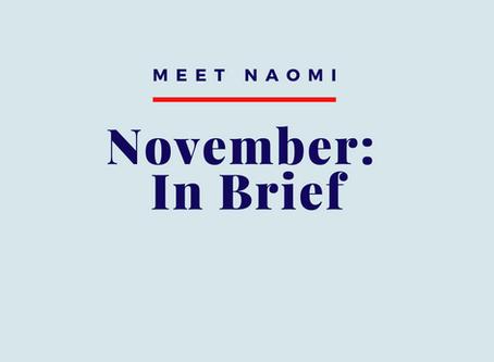 November 2019: In Brief
