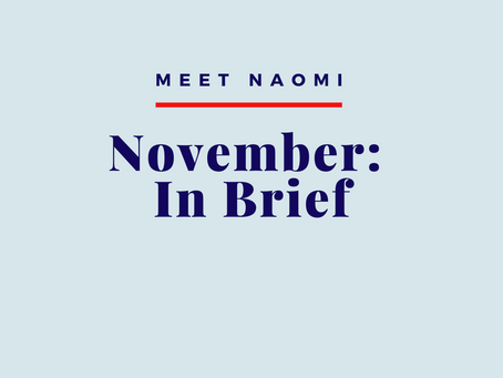 November 2019: In Brief
