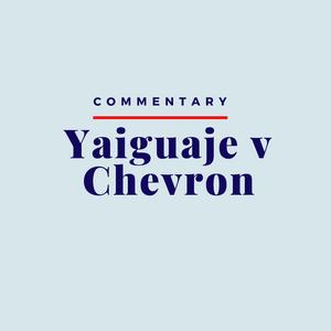 Image reads Commentary: Yaiguage v Chevron