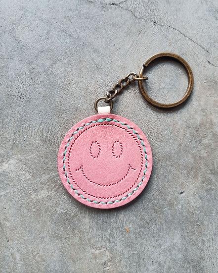 【好好縫】SMILE FACE 圓形鎖匙扣|皮革D.I.Y材料包