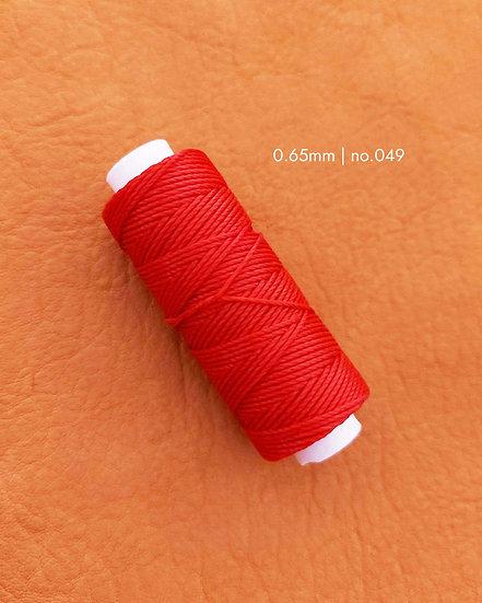 手縫圓蠟線|紅色系列|0.65mm