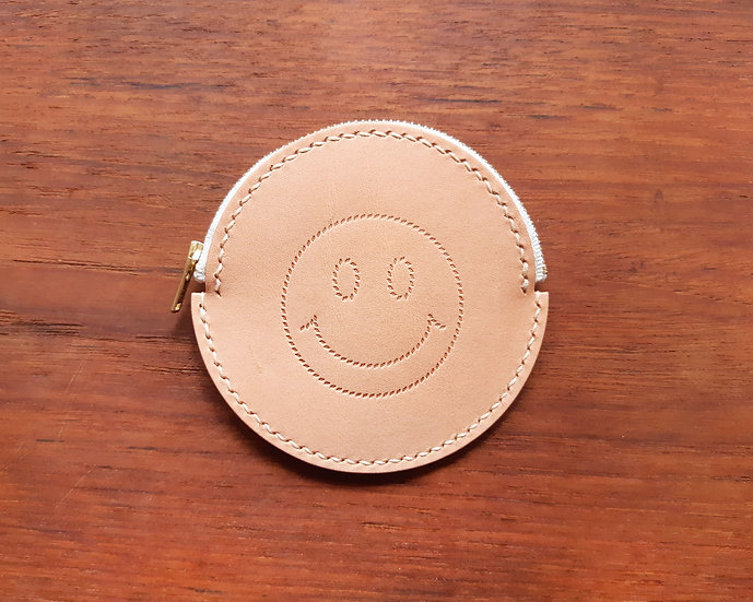 【好好縫】SMILE FACE 圓形散紙包 皮革D.I.Y材料包
