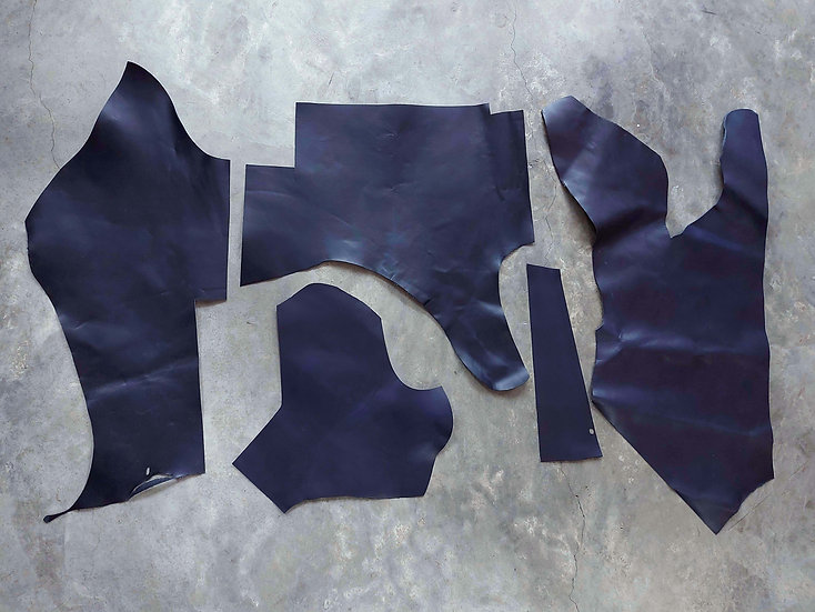 意大利植鞣牛皮塊 深藍 NAVY 1.0mm腩條