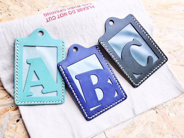 【好好縫】字母證件套|皮革D.I.Y材料包