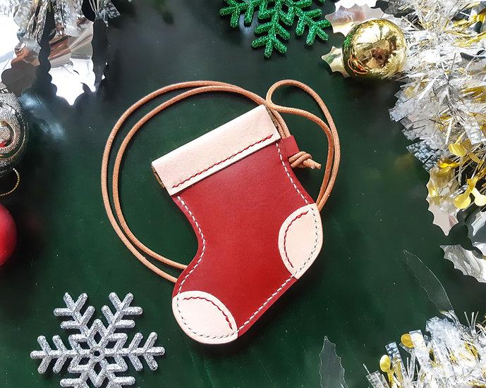 【好好縫】聖誕襪咭套|皮革D.I.Y材料包