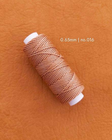 手縫圓蠟線|啡色系列|0.65mm