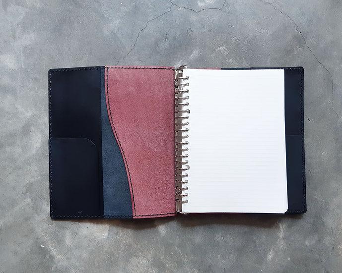 【好好縫】A5雙色活頁本套|皮革D.I.Y材料包