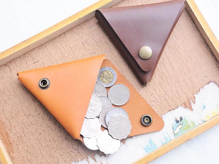 【好好縫】三角形散紙包|皮革D.I.Y材料包