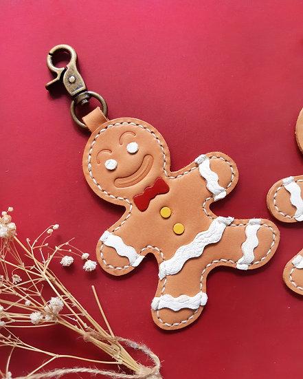 【好好縫】薑餅人鎖匙扣|皮革D.I.Y材料包