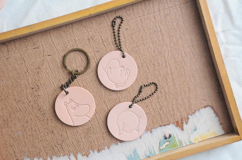MOOMIN x 港產皮革|圓形掛飾/鎖匙扣