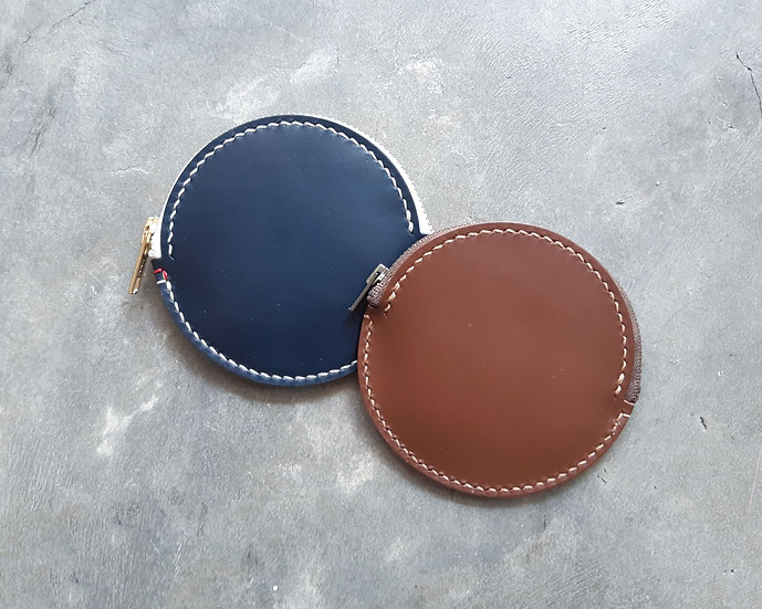 【好好縫】圓形拉鏈散紙包|皮革D.I.Y材料包