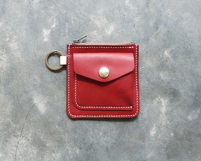 【好好縫】正方形拉鏈散紙包|皮革D.I.Y材料包