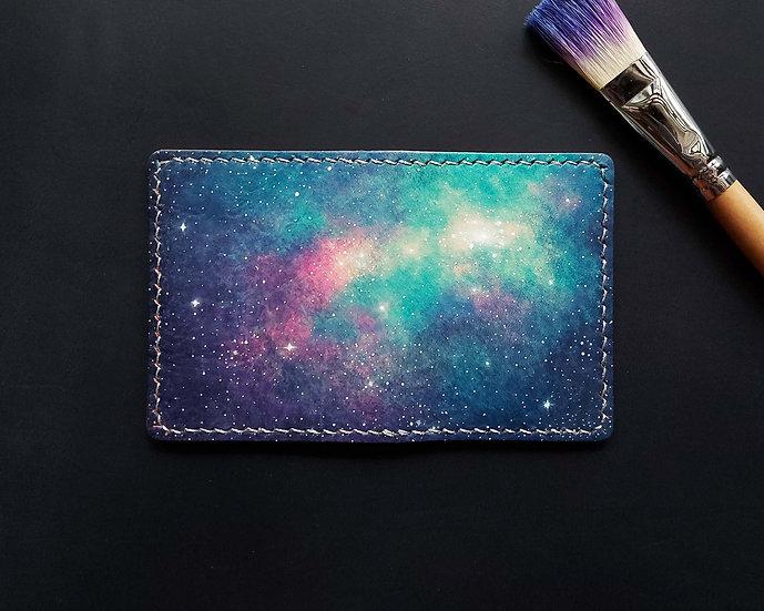 【好好縫】星空染|對摺咭套(咭位 / 相位)|皮革D.I.Y材料包