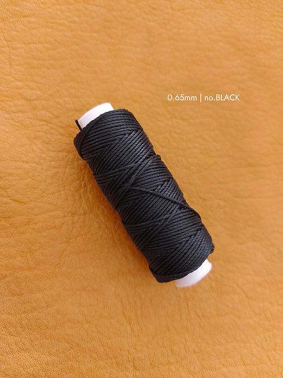 手縫圓蠟線|黑灰系列|0.65mm