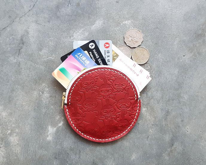 MOOMIN x 港產皮革 圓形拉鏈散紙包