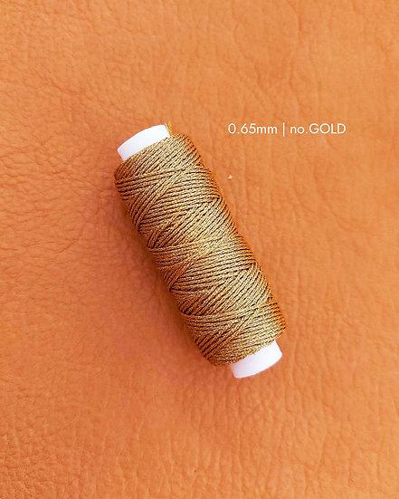 手縫圓蠟線|金銀系列|0.65mm