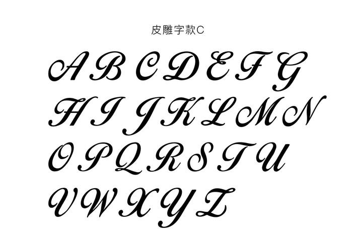 皮雕字款C