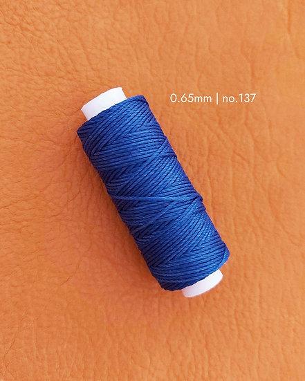 手縫圓蠟線|藍色系列|0.65mm